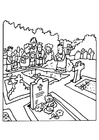 Coloring pages funeral