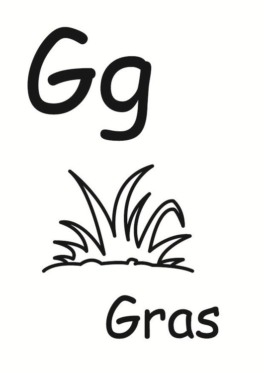 Coloring page g