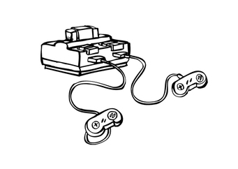 Coloring page game console