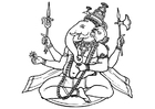 Coloring pages Ganesha