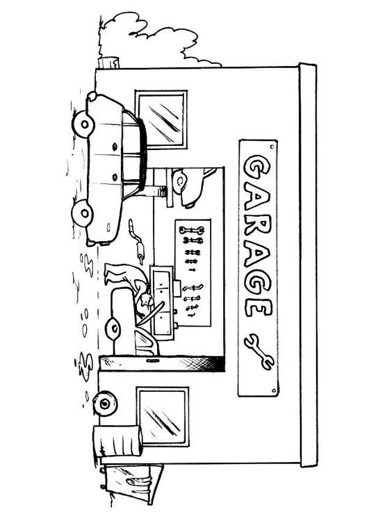 garage coloring pages photo18