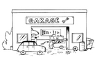 Coloring pages garage