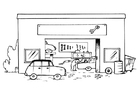 Coloring page garage - without text