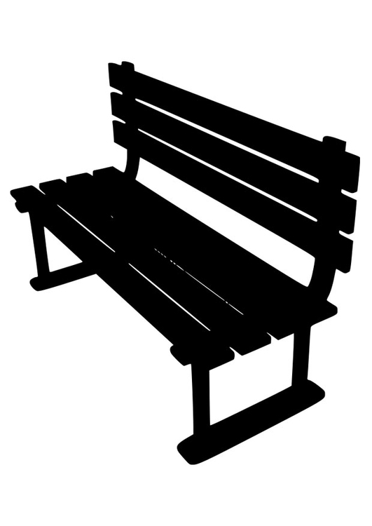 Coloring page garden bench