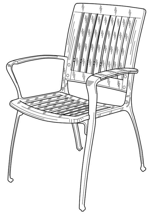 Coloring page garden chair