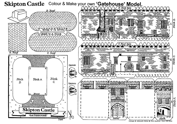 Coloring page Gatehouse model