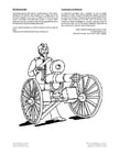 Coloring page gatling gun