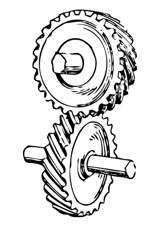 Coloring page gear wheel