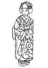 Coloring pages geisha