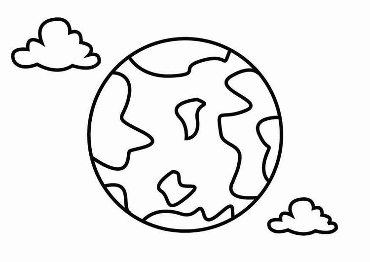 Coloring page geography