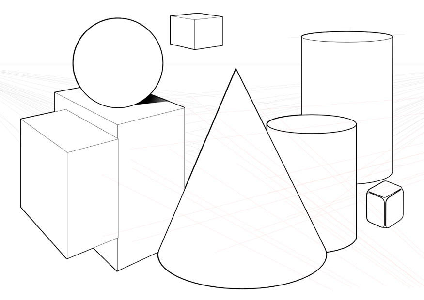 Coloring Page Geometric Shapes