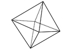 Coloring pages geometrical figure - octahedron