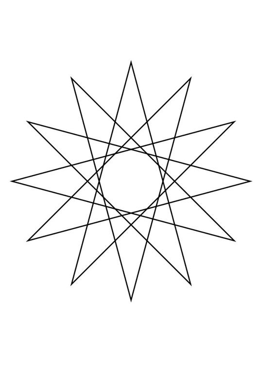 geometrical figure - star