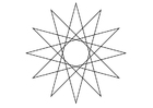 Coloring pages geometrical figure - star
