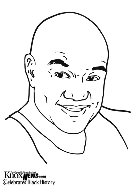 Coloring page George Foreman