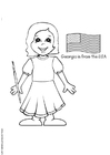 Coloring page Georgia from the USA