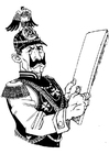 Coloring page German soldier
