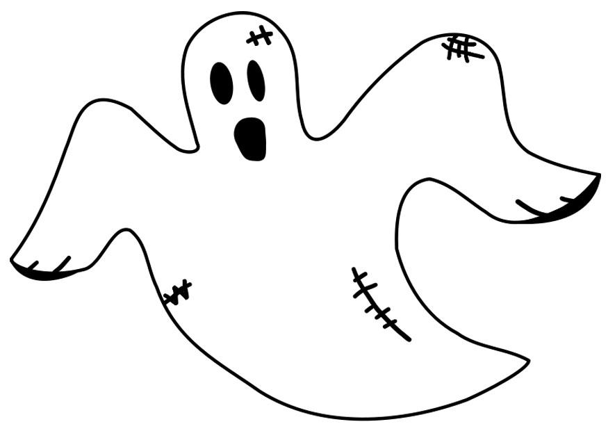 Coloring page ghost - img 19679.