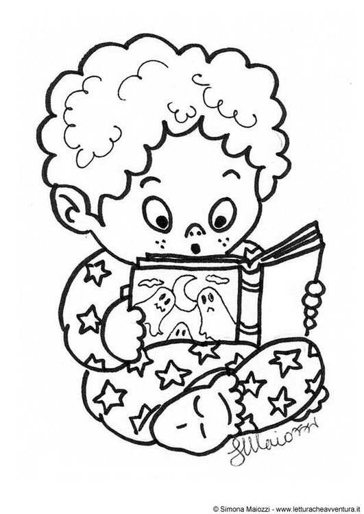 Coloring page ghost story