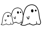 Coloring page ghosts