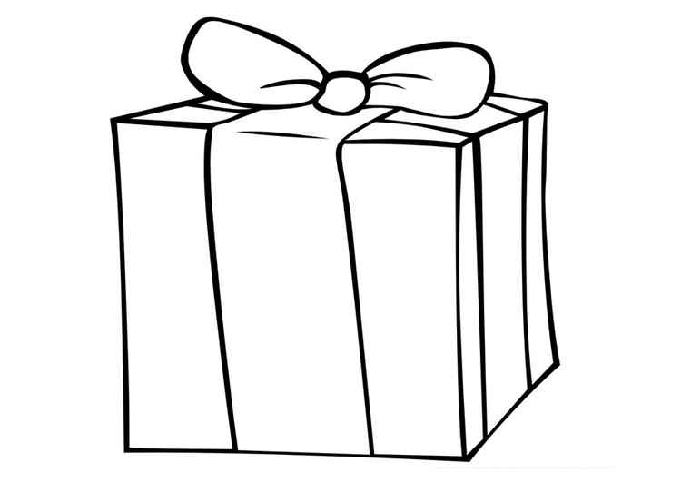 Coloring page gift