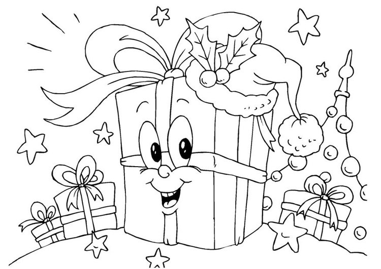 Coloring page gifts