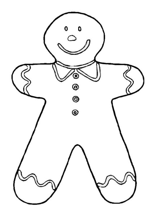 Coloring page gingerbread man