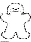 Coloring pages Gingerbread Man