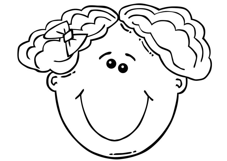 Coloring page Girl\'s face - img 17104.