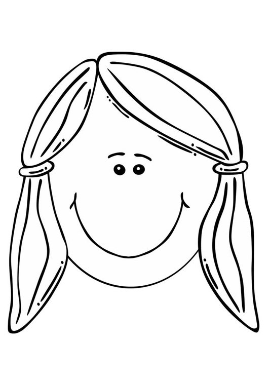 Coloring page girl's face