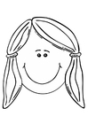 Coloring pages girl's face