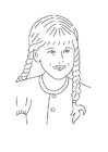 Coloring pages girl with braided hair