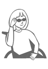 Coloring page girl with sunglasses