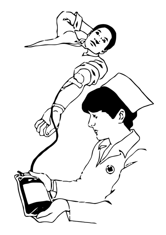 Coloring page give blood