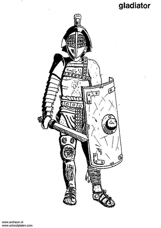 Coloring page gladiator