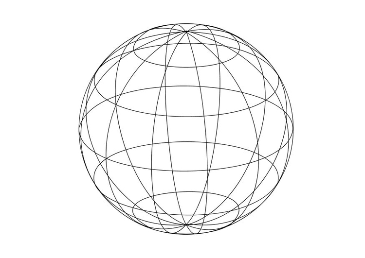 Coloring page globe  img 14334