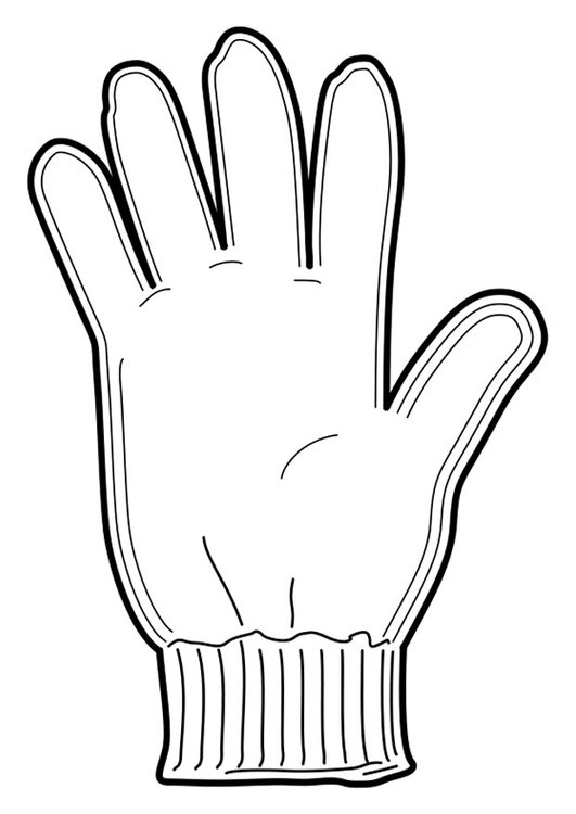 Coloring page glove
