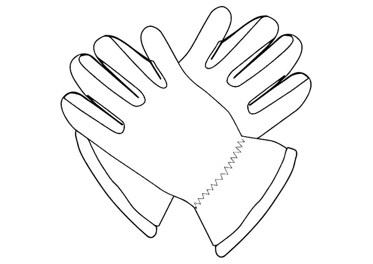 Coloring page gloves