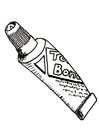 Coloring pages glue tube
