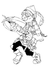 Coloring pages gnome - gnome