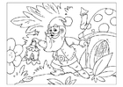 Coloring pages gnome