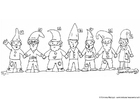 Coloring pages gnomes 1 - 7