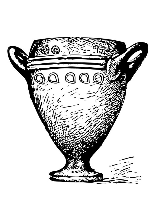 Coloring page goblet
