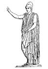 Coloring page Godess Athena