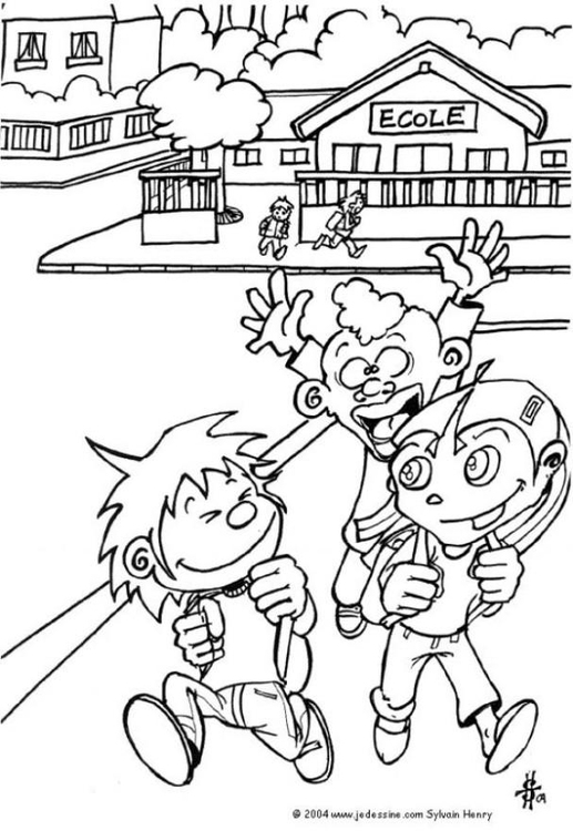 Coloring page going home