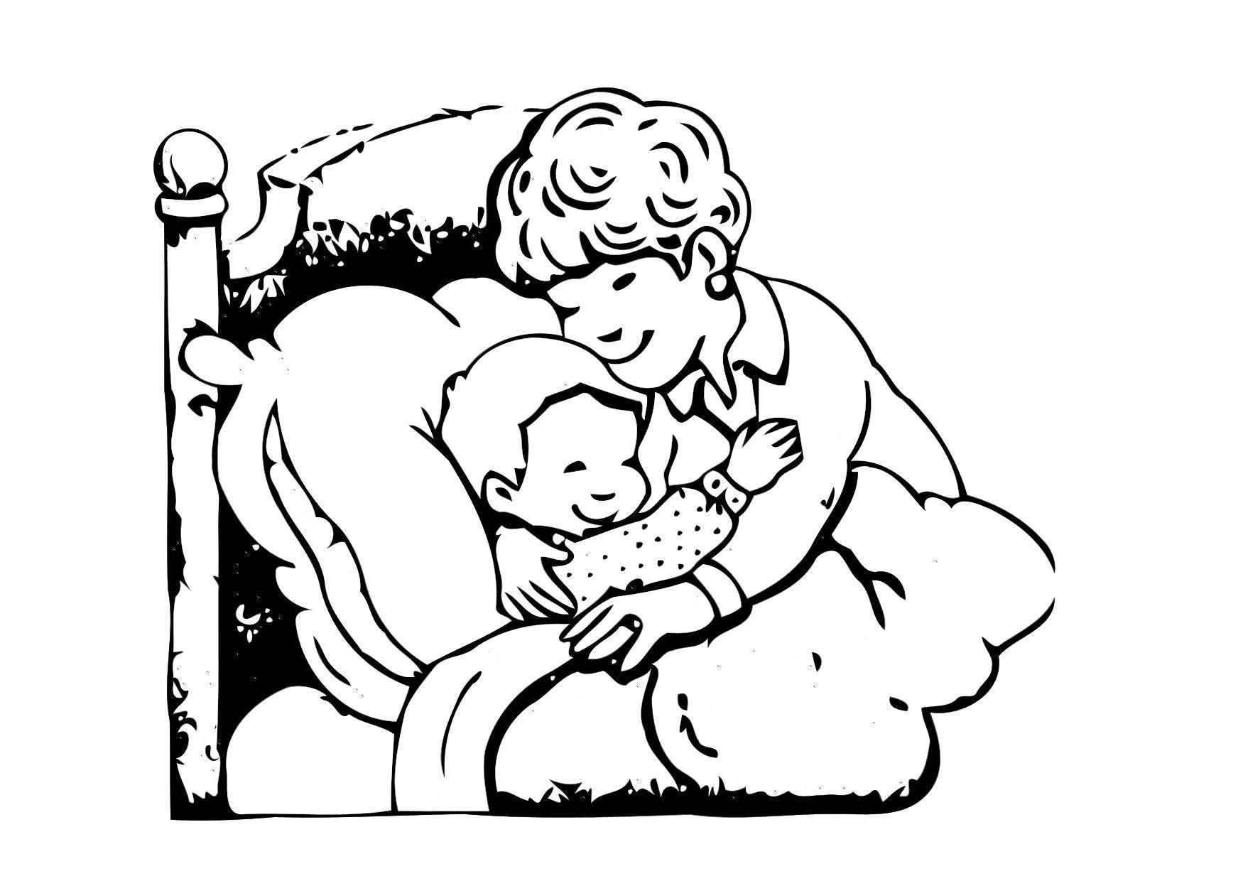 big bed pics coloring pages - photo#38