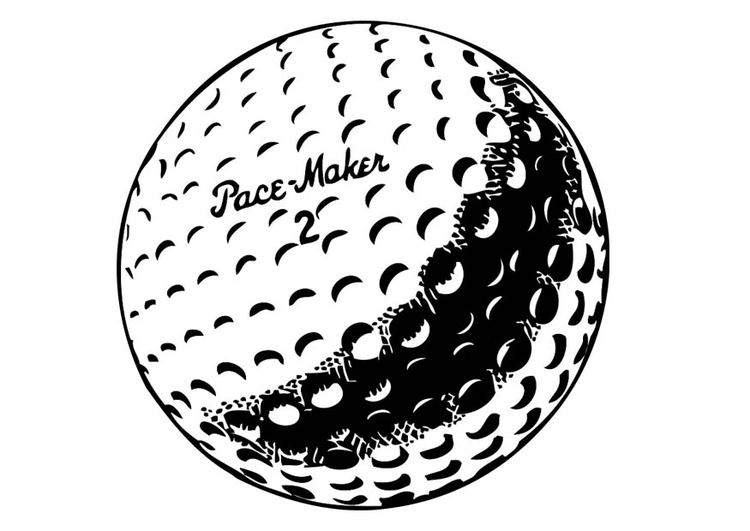 Coloring page Golf Ball