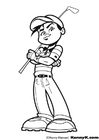 Coloring pages play golf