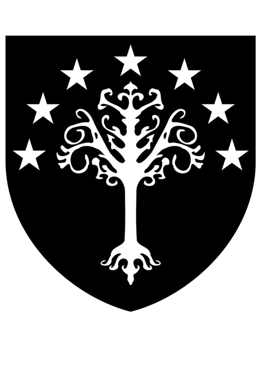 Coloring page Gondor coat of arms