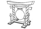 Coloring page gong
